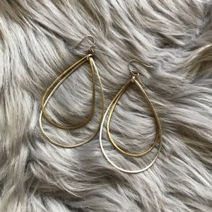 Jewelry - Gold and Silver Teardrop Earrings